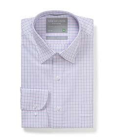 Classic Relaxed Fit Shirt Pink Blue Check