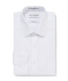 Classic Relaxed Fit Shirt White Dobby