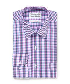Classic Relaxed Fit Shirt Purple Blue Navy Check