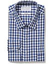 Classic Relaxed Fit Shirt Navy Black Large Check