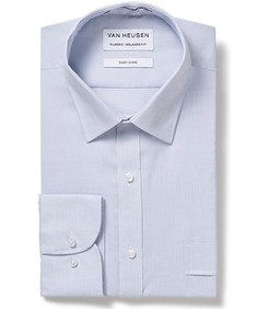 Classic Relaxed Fit Shirt Silver Thin Stripe