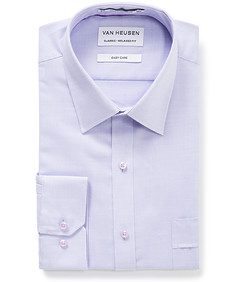 Men's Classic Fit Shirt Purple Houndstooth