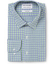 Men's Classic Fit Shirt Mint and Navy Check