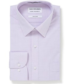 Classic Relaxed Fit Shirt Mauve Mini Check