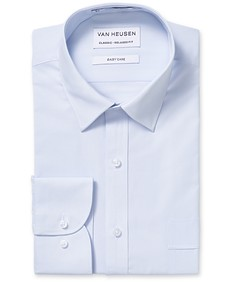 Classic Relaxed Fit Shirt Blue Textured