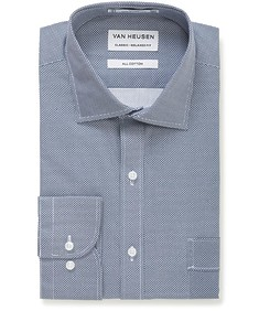 Classic Relaxed Fit Shirt Navy Geo Print