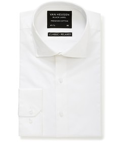 Black Label Classic Relaxed Fit Shirt Sateen White