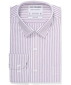 Classic Relaxed Fit Shirt Textured Candy Stripe