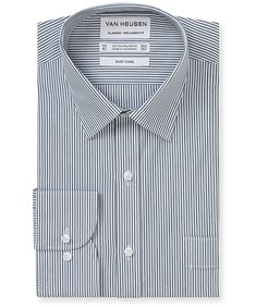 Classic Relaxed Fit Shirt Charcoal Stripe