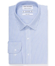 Classic Relaxed Fit Shirt Blue Shadow Check