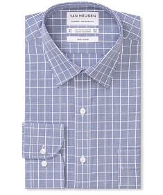 Classic Relaxed Fit Shirt Indigo Large Checks