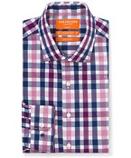 Classic Relaxed Fit Commuter Shirt Large Check