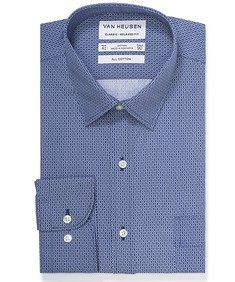 Classic Relaxed Fit Shirt Indigo Print