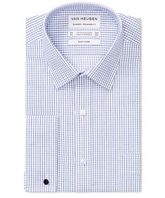 Classic Relaxed Fit Shirt Double Line Check