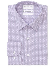 Classic Relaxed Fit Shirt Dobby Check