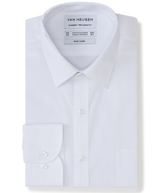 Classic Relaxed Fit Shirt White Jacquard