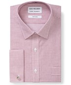 Classic Relaxed Fit Shirt Wine Check