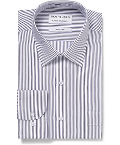 Classic Relaxed Fit Shirt Purple Stripes