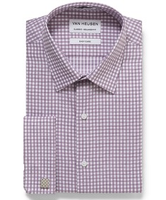 Classic Relaxed Fit Shirt Check French Cuff