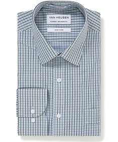 Classic Relaxed Fit Shirt Green Black Mini Check