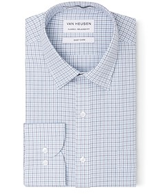 Classic Relaxed Fit Shirt Grey and Blue Check