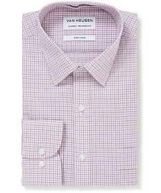 Classic Relaxed Fit Shirt Lilac Cross Check