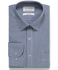 Classic Relaxed Fit Shirt Indigo Check