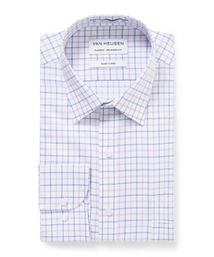 Classic Relaxed Fit Shirt Blue Window Check