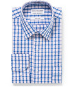Classic Relaxed Fit Shirt Multi Check Blue