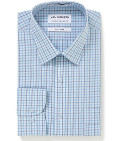 Classic Relaxed Fit Shirt Blue Tones Multi Check