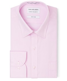Classic Relaxed Fit Shirt Pink Herringbone