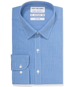 Classic Relaxed Fit Shirt Blue Mini Gingham