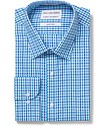 Men's Classic Fit Shirt Blue Gingham Check