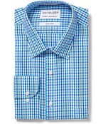 Classic Relaxed Fit Shirt Blue Gingham Check