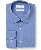 Men's Classic Fit Shirt Navy Feather Stripe
