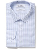 Classic Relaxed Fit Shirt Blue Tattersall Check