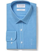 Classic Relaxed Fit Shirt Blue on Blue Gingham