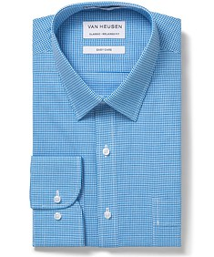 Men's Classic Fit Shirt Blue on Blue Gingham