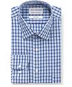 Men's Classic Fit Shirt Blue Navy Plaid