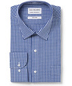 Men's Classic Fit Shirt Navy Gingham