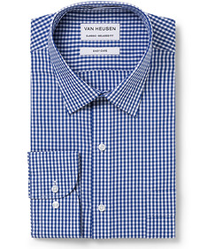 Men's Classic Fit Shirt Navy Gingham