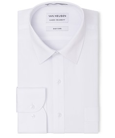 Classic Relaxed Fit Shirt Textured White