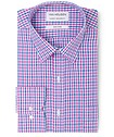 Classic Relaxed Fit Shirt Purple Blue Check