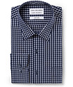 Men's Classic Fit Shirt Navy Large Check