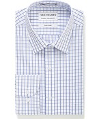 Classic Relaxed Fit Shirt White with Blue Check