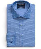 Euro Tailored Fit Shirt Blue Pin Dot Stripe
