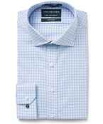 Euro Tailored Fit Shirt Purple Turquoise Check
