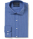 Euro Tailored Fit Shirt Cobalt Check