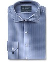 Euro Tailored Fit Shirt Indigo Gingham Check