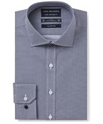Euro Tailored Fit Shirt Navy Geometric Circle Print
